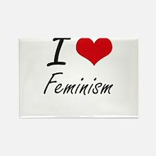 I love Feminism Magnets