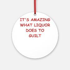 liquor Round Ornament