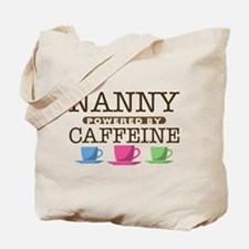 Nanny Powered by Caffeine Tote Bag