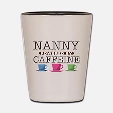 Nanny Powered by Caffeine Shot Glass