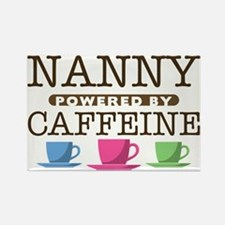 Nanny Powered by Caffeine Rectangle Magnet