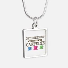 Optometrist Powered by Caffeine Silver Square Neck