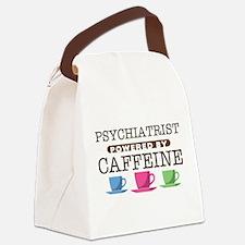 Psychiatrist Powered by Caffeine Canvas Lunch Bag