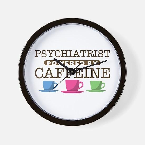 Psychiatrist Powered by Caffeine Wall Clock