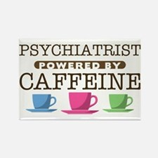Psychiatrist Powered by Caffeine Rectangle Magnet