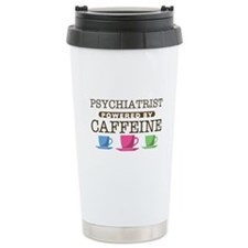 Psychiatrist Powered by Caffeine Ceramic Travel Mu