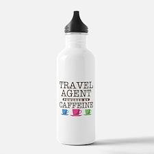 Travel Agent Powered by Caffeine Water Bottle