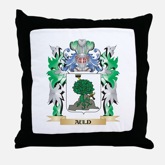 Auld Coat of Arms - Family Crest Throw Pillow