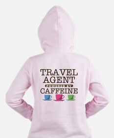 Travel Agent Powered by Caffeine Women's Hooded Sw