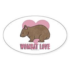 Wombat Love II Oval Decal