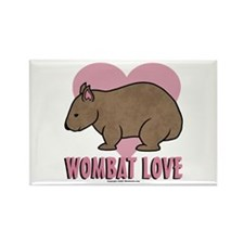 Wombat Love II Rectangle Magnet