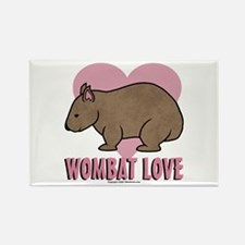 Wombat Love II Rectangle Magnet