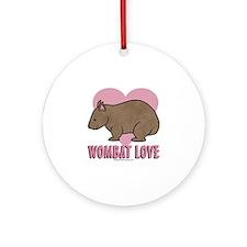 Wombat Love II Ornament (Round)