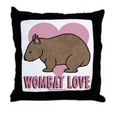 Wombat Love II Throw Pillow