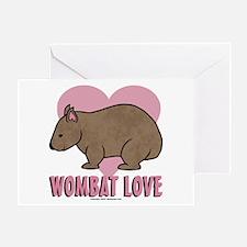 Wombat Love II Greeting Card