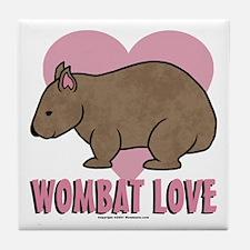 Wombat Love II Tile Coaster