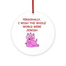 pig logic Round Ornament