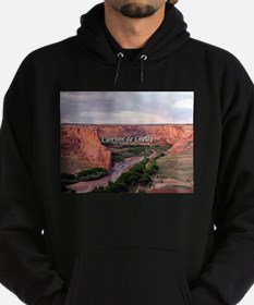 Canyon de Chelly at sunset (caption) Hoodie (dark)
