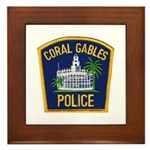 Coral Gables Police Framed Tile