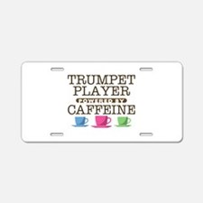 Trumpet Player Powered by Caffeine Aluminum Licens