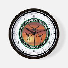 Living Green Connecticut Wind Power Wall Clock