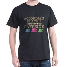 Accordian Player Powered by Caffeine T-Shirt