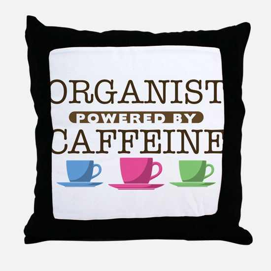 Organist Powered by Caffeine Throw Pillow
