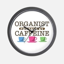 Organist Powered by Caffeine Wall Clock