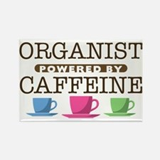 Organist Powered by Caffeine Rectangle Magnet