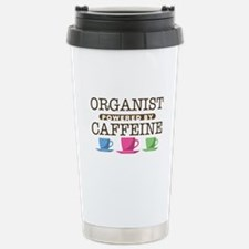 Organist Powered by Caffeine Ceramic Travel Mug