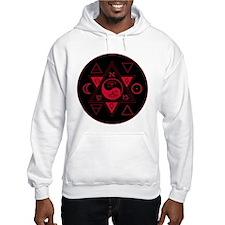 New Hermetics Red on Black Hoodie