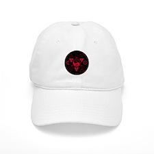 New Hermetics Red on Black Baseball Cap