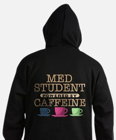 Med Student Powered by Caffeine Dark Hoodie