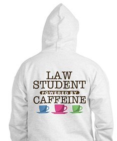 Law Student Powered by Caffeine Hoodie