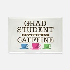 Grad Student Powered by Caffeine Rectangle Magnet