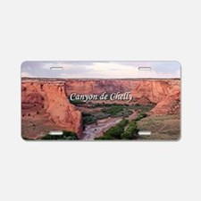 Canyon de Chelly at sunset Aluminum License Plate