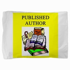 geek published author gifts t-shirts Pillow Sham
