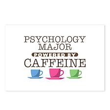Psychology Major Powered by Caffeine Postcards (Pa