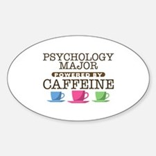Psychology Major Powered by Caffeine Oval Decal