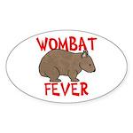 Wombat Fever Oval Sticker