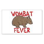Wombat Fever Rectangle Sticker