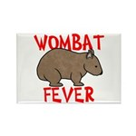 Wombat Fever Rectangle Magnet (10 pack)