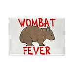 Wombat Fever Rectangle Magnet