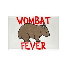 Wombat Fever Rectangle Magnet
