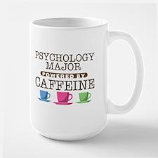 Psychology Major Powered by Caffeine Large Mug