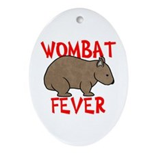 Wombat Fever Oval Ornament