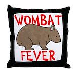 Wombat Fever Throw Pillow