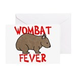 Wombat Fever Greeting Card