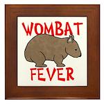 Wombat Fever Framed Tile