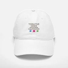 Theatre Geek Powered by Caffeine Baseball Baseball Cap
